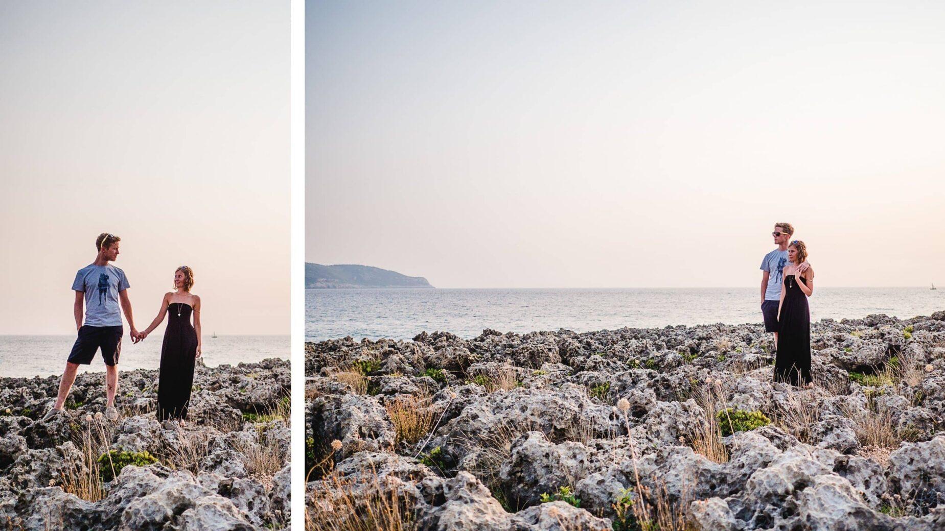 Pärchenfotos am Meer in Griechenland