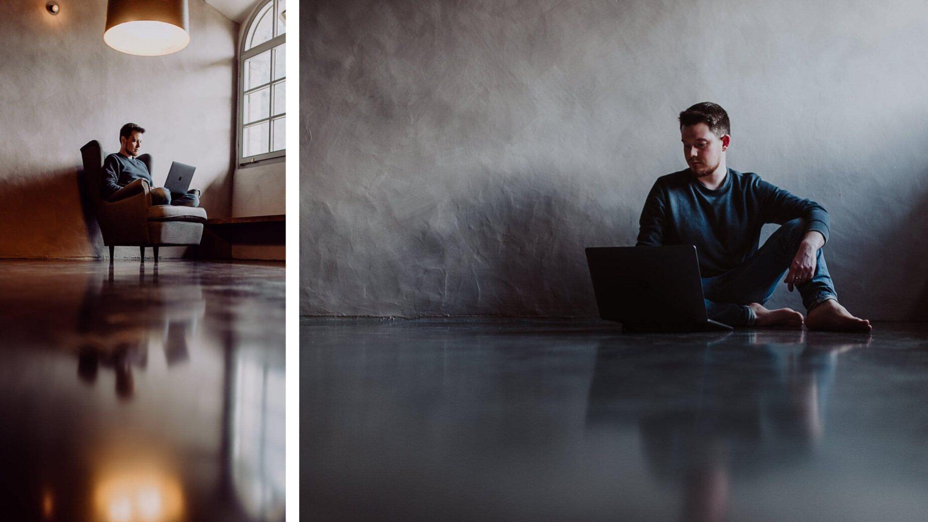 Schlichte und starke Portraitfotos in Schwarz-Weiß von Jung und Wild design