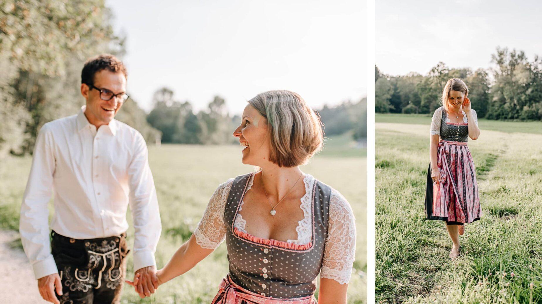 Pärchenfotos im Großraum München und Ingolstadt, Engagementshoot im Grünen