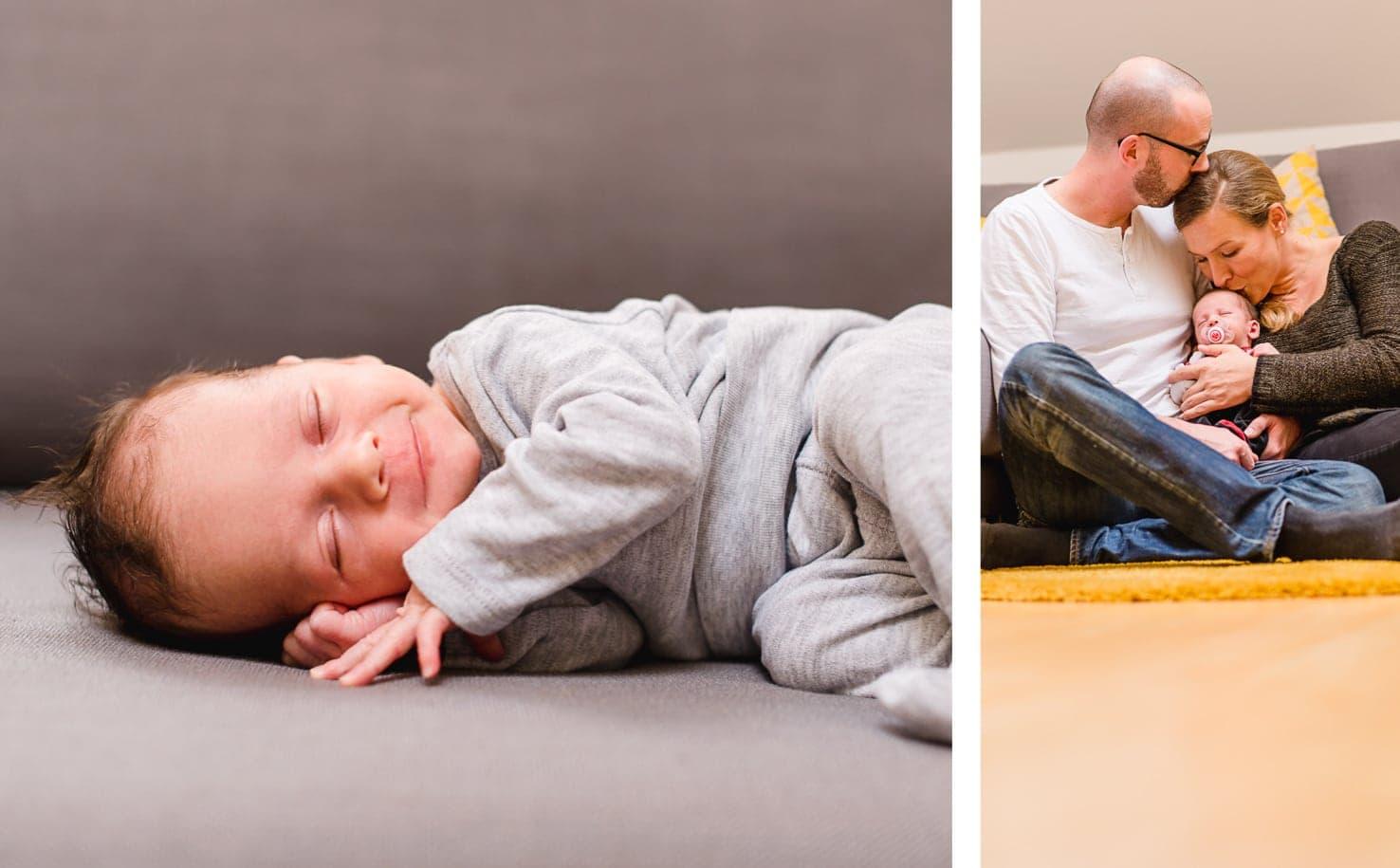 Newbornfotografie zu Hause, Homestpry, natürliche Babyfotografie von Jung und Wild design rund um München und Ingolstadt