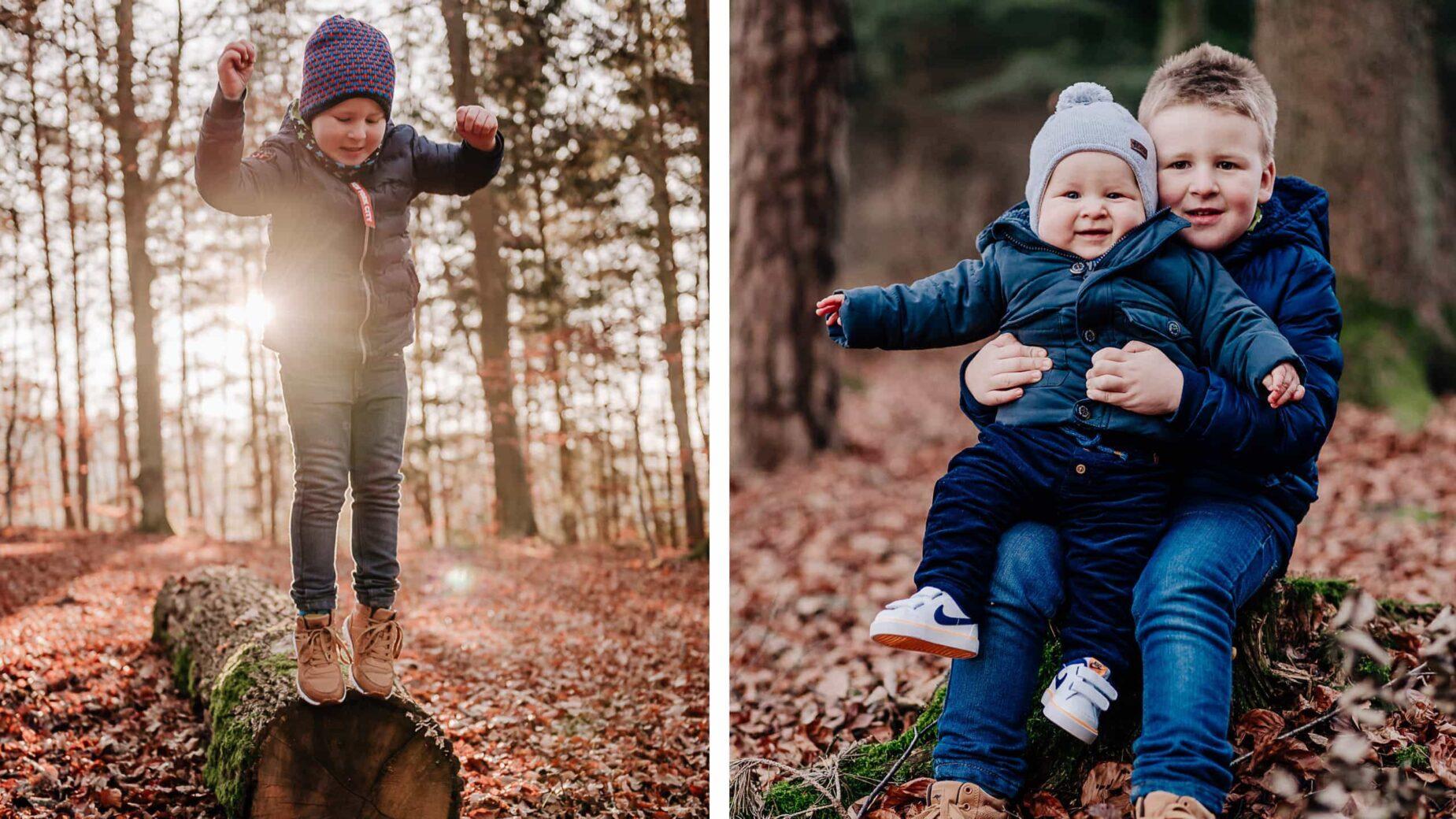 Moderne und lebendige Familienfotografie im Großraum München und Ingolstadt von Jung und Wild design - Herbstshooting im Laub