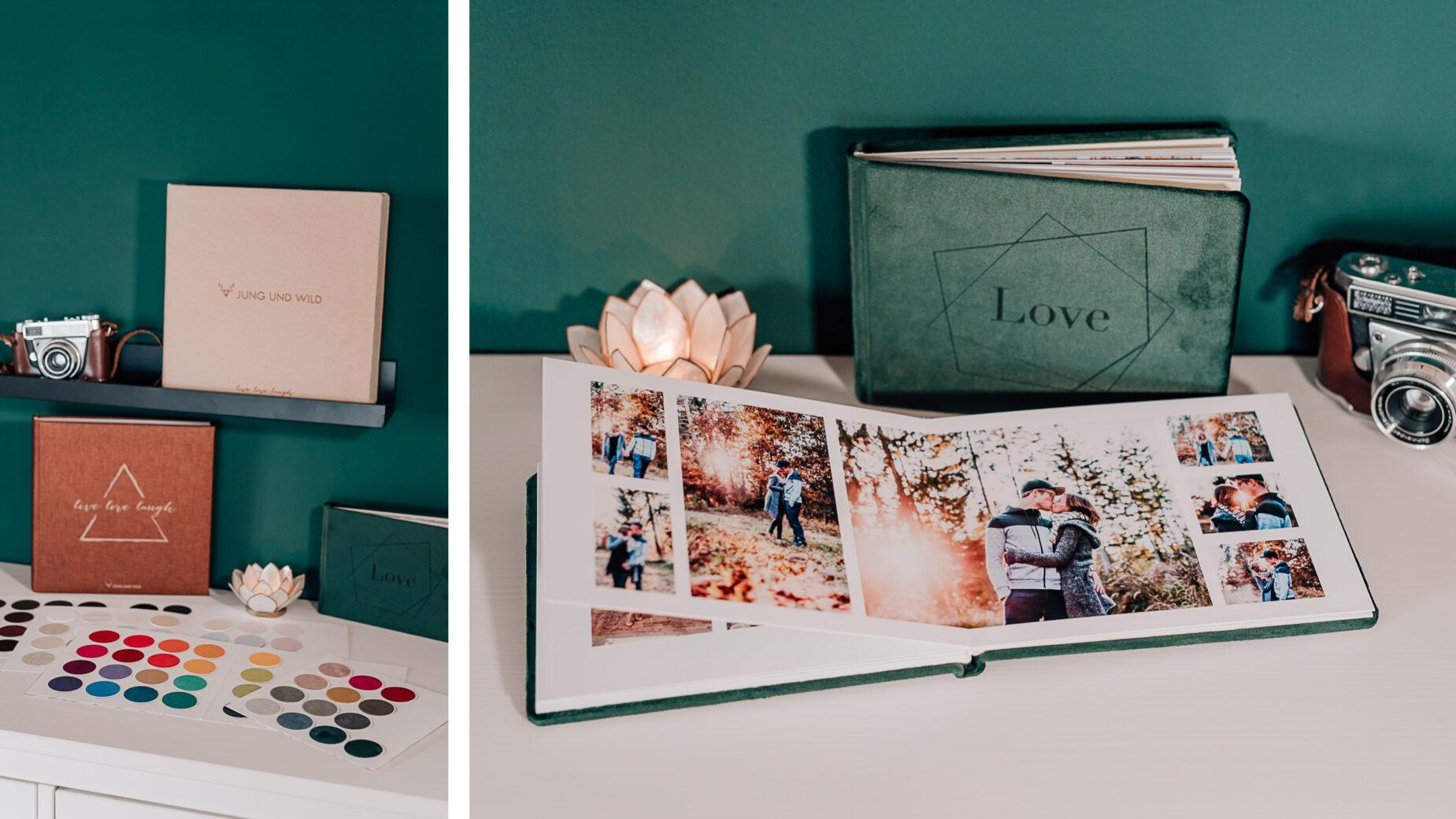Mica Zeitz Hochzeitsfotografin - hochwertige Printprodukte und Hochzeitsbücher - Portraitalbum mit individuellem Cover