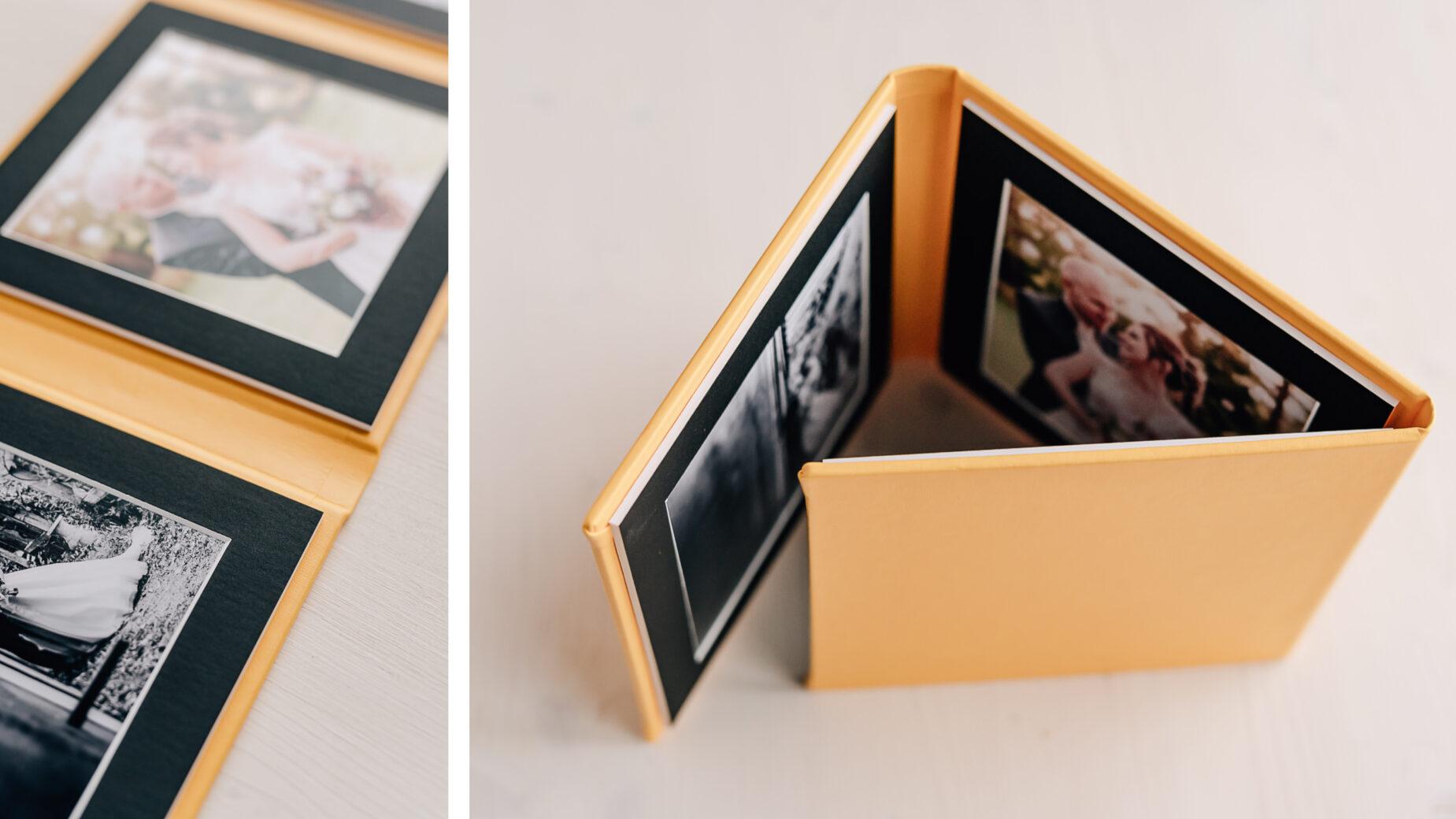 Mica Zeitz Hochzeitsfotografin - hochwertige Printprodukte und Hochzeitsbücher - Triplex 3er Foto Aufsteller